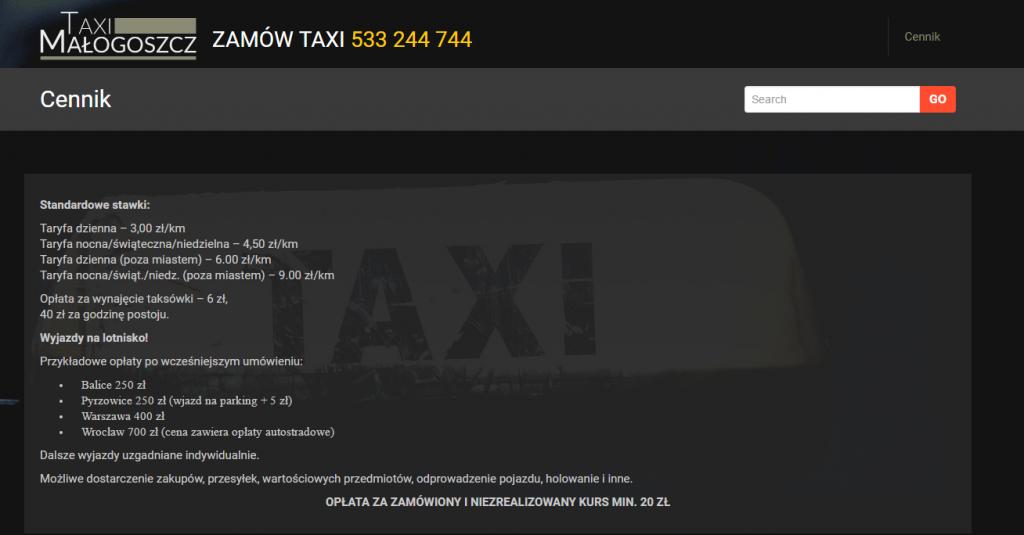 Taxi Małogoszcz